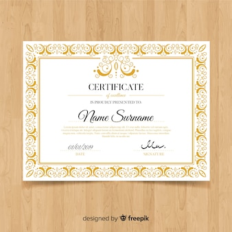 Dekorative dekorative zertifikatvorlage