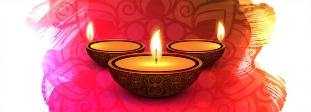 Dekorative diwali festival-feierfahne bunt