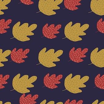 Dekorative eiche nahtlose muster. einfache naturtapete. für stoffdesign, textildruck, umhüllung, abdeckung. doodle-vektor-illustration.