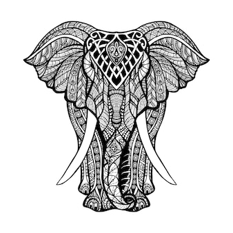 Dekorative elefant-illustration