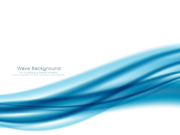 Dekorative elegante blaue welle