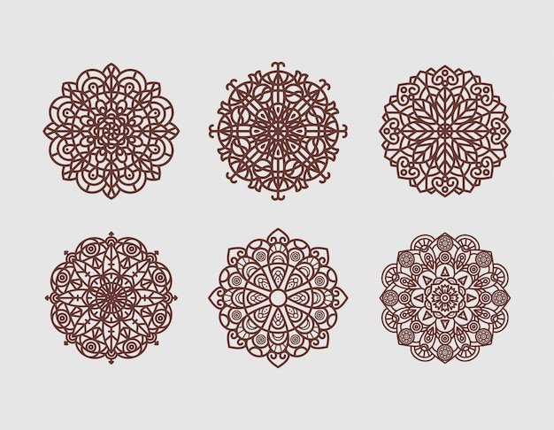 Dekorative elemente der geometrischen blume mandala