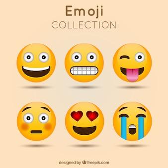 Dekorative emoji sammlung