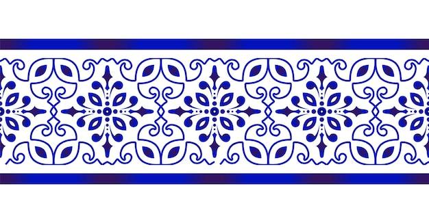 Dekorative florale nahtlose bordüre