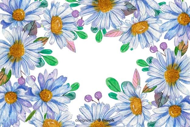 Dekorative gänseblümchenhintergrund-aquarellart