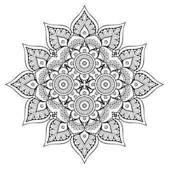 Dekorative geometrische gezeichnete illustration der fliese hand