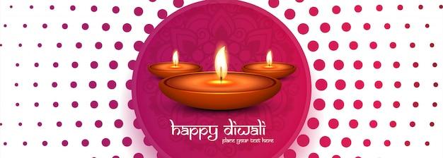 Dekorative glückliche diwali-diya fahnenschablone
