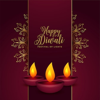 Dekorative glückliche diwali festivalkarte