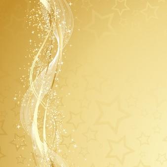 Dekorative Gold Weihnachten Hintergrund