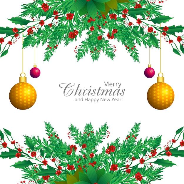 Dekorative grenze von einem weihnachtsschmuckzweig