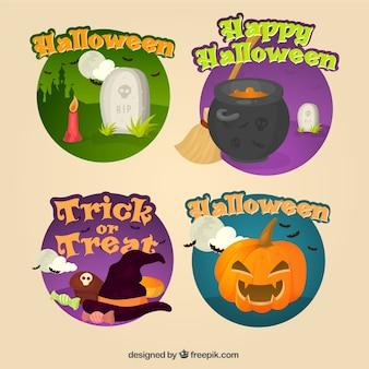 Dekorative halloween-aufkleber