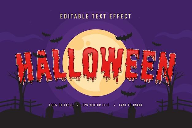 Dekorative halloween-schrift und alphabet