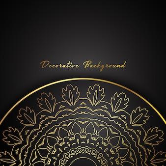 Dekorative hintergrund mit gold mandala design