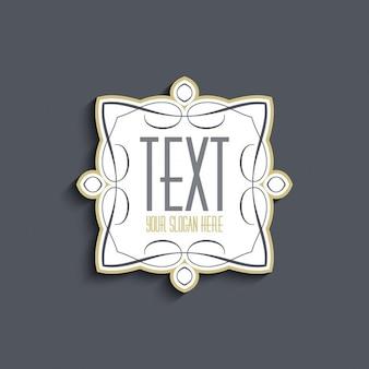 Dekorative hintergrund mit platz für ihre business-text