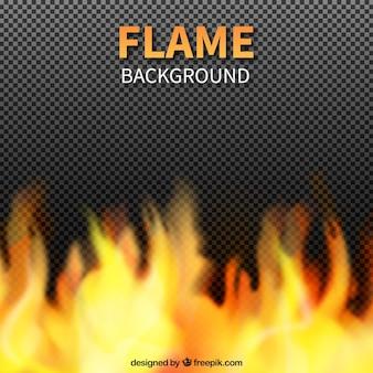 Dekorative hintergrund realistischer flammen