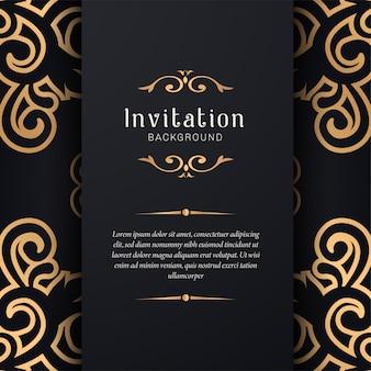 Dekorative hochzeitseinladung mit elegantem stil