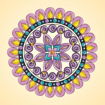Dekorative ikone der mandala