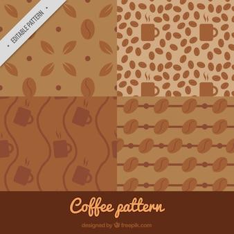 Dekorative kaffee-muster