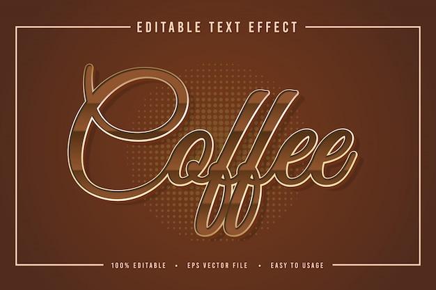 Dekorative kaffee schriftart