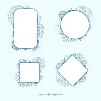 Dekorative kreis und quadrat rahmen vektoren