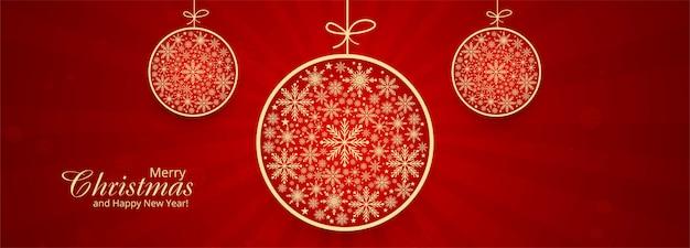 Dekorative kugel der weihnachtsschneeflocken