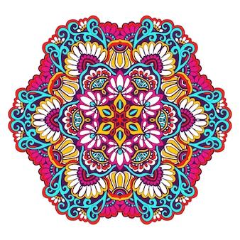 Dekorative mandala-farbe