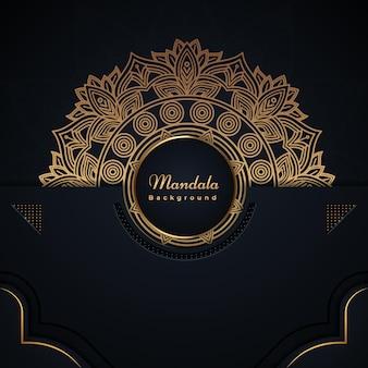 Dekorative mandala-festivalkarte im islamischen stil