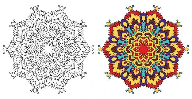 Dekorative mandala malvorlagen