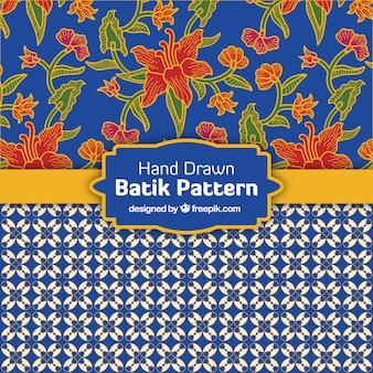 Dekorative muster in batik-stil