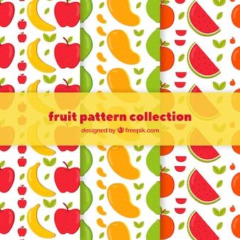Dekorative muster mit farbigen früchten