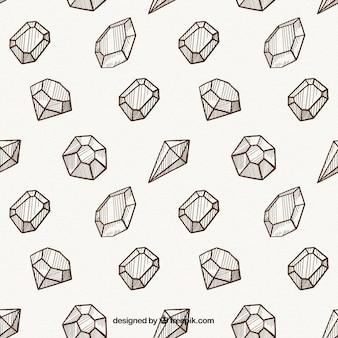 Dekorative muster mit verschiedenen arten von edelsteinen