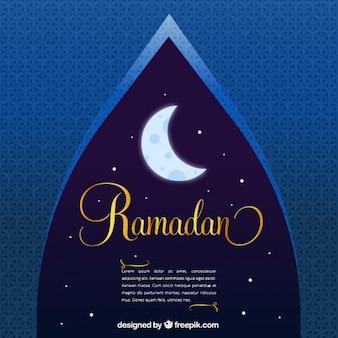 Dekorative nacht ramadan hintergrund