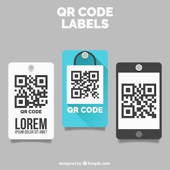 Dekorative qr code-etiketten