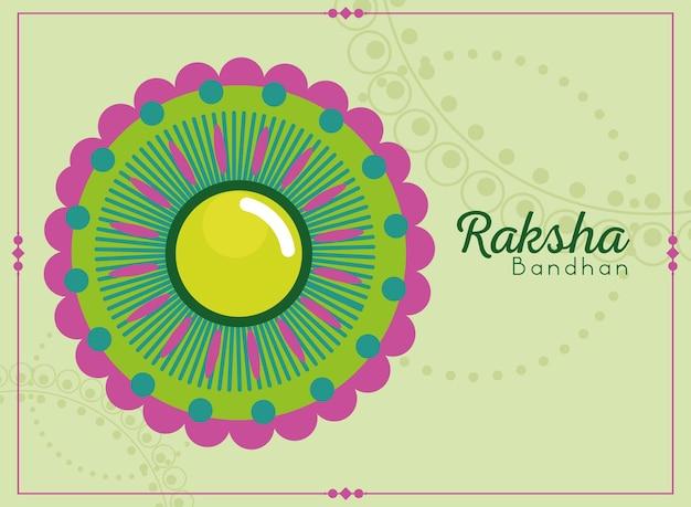 Dekorative raksha-bandhan-karte