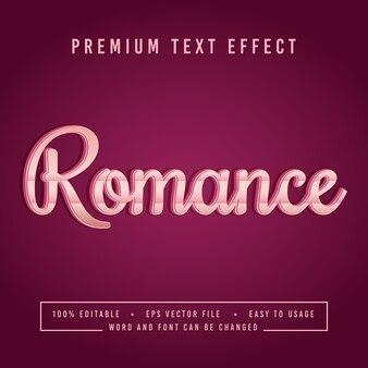 Dekorative romantik schriftart