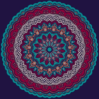 Dekorative runde spitze mit damast- und arabeskenelementen