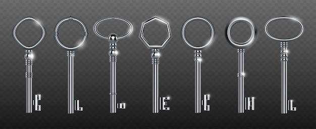 Dekorative schlüssel aus silber oder stahl