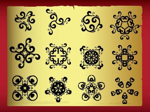 Dekorative symmetrisch symbol abziehbilder