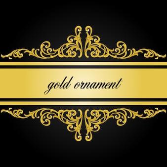 Dekorative traditionelle verzierung mit luxusgoldfarbe