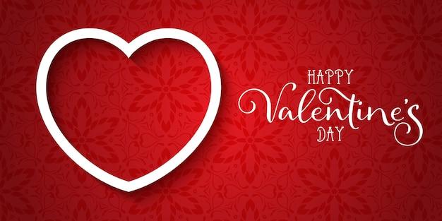 Dekorative valentinstagfahne mit elegantem design