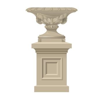 Dekorative vase im klassischen stil