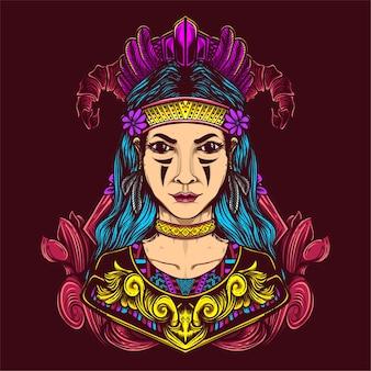 Dekorative weibliche stammkultur kunstwerke