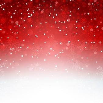 Dekorative weihnachten hintergrund mit schneeflocken