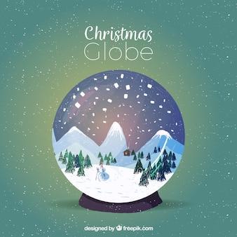 Dekorative weihnachten snowglobes hintergrund