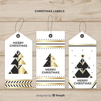 Dekorative weihnachtsaufklebersammlung mit schwarzem und gold
