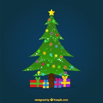 Dekorative weihnachtsbaum hintergrund