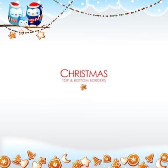Dekorative weihnachtsränder