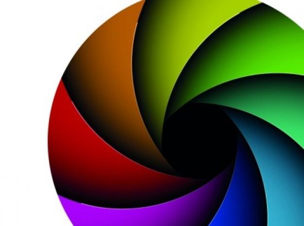 Dekorativen bunten geometrie membran vector set
