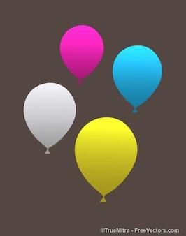Dekorativen bunten luftballons