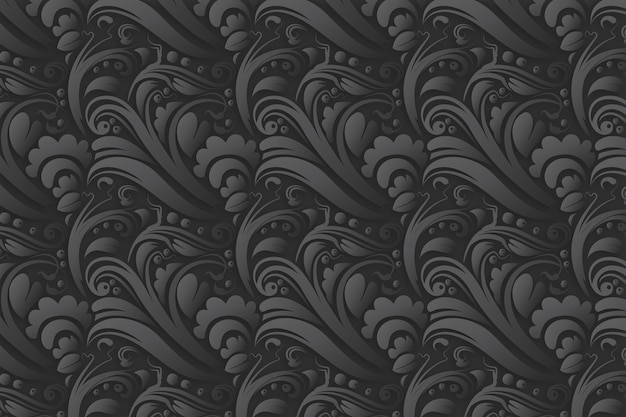 Dekorativer abstrakter mit blumenhintergrund